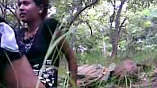 South indian girlfriend fucked by her boyfriend in forest
