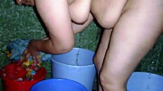 Mature amateur Indian wife caught naked taking shower