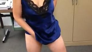 Indian bhabhi in sexy blue camisole masturbating