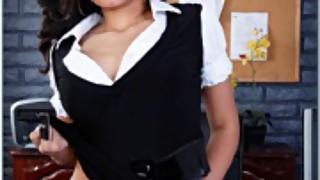 Indian girl in office naked teasing her boss