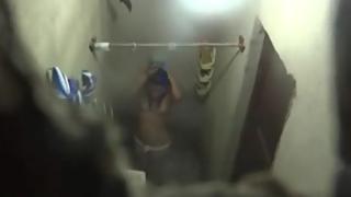 Next door Indian college girl recorded taking shower