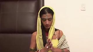 Indian girl preying before sex