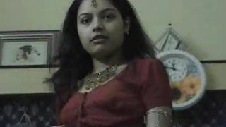 Sexy Indian wife teasing her hubby to get fuck getting naked